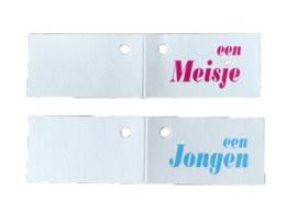 "Kaartje ""een Jongen"" of  ""Meisje"""