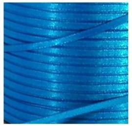Satijn Lint 3 mm, blauw