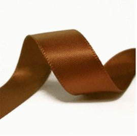 Satijn Lint bruin 9 mm breed