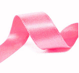 Satijn Lint roze in 16 mm breed