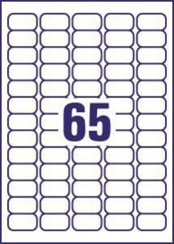 65 Naamstickers 38,1 x 21,2 mm