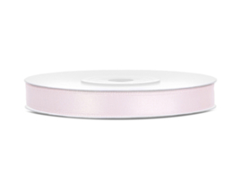 Satijn Lint - Light Powder Pink - 6 mm - 25 meter