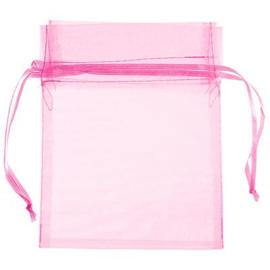Organza Zakje Pink 7 x 9 cm