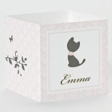 Geboortebedankjes kubus poes