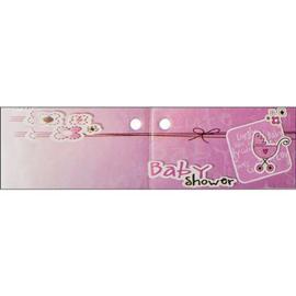 Kaartje Baby Shower roze