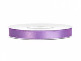 Satijn Lint - Lavendel - 6 mm - 25 meter