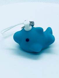 Geboortebedankje Dolfijn Mini sleutelhanger Blauw