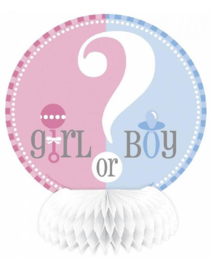 Tafeldeco Gender reveal Party, 4 stuks