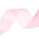 Organza Lint roze 25 mm