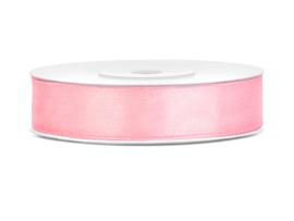 Satijn Lint - Licht Roze - 12 mm - 25 meter