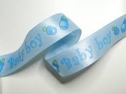 Satijn lint Baby boy, 10 mm breed