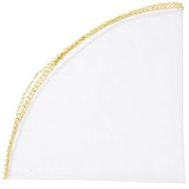 Tule rond met gouden randje 22 cm