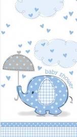 Babyshower Tafelkleed olifant blauw