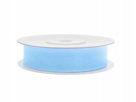Organza Lint blauw 12 mm