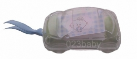 Geboortebedankjes auto transparant