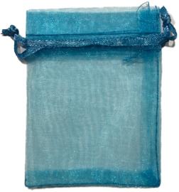 Organza Zakje Blauw 7 x 9 cm