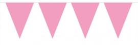 Vlaggenslinger XL roze 10 meter