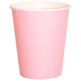 Bekers licht roze 14 stuks