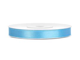 Satijn Lint - Licht Blauw - 6 mm - 25 meter