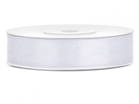 Satijn Lint Wit 12 mm
