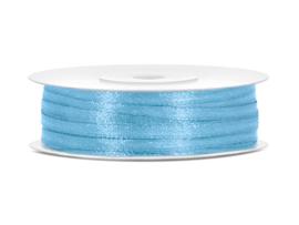 Satijn Lint - Licht Blauw - 3 mm - 50 meter