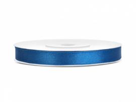 Satijn Lint - Blauw - 6 mm - 25 meter