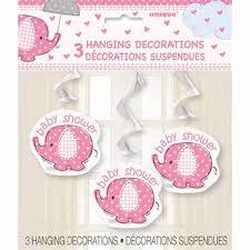 Babyshower Hangdecoratie olifant roze