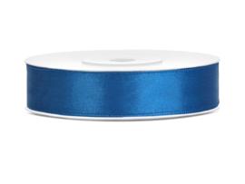 Satijn Lint - Blauw - 12 mm - 25 meter