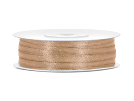 Satijn Lint - Light Gold - 3 mm - 50 meter