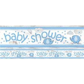 Babyshower Foliebanner 3,7 meter olifant blauw