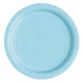 Borden licht blauw, 20 stuks, 17,1 cm