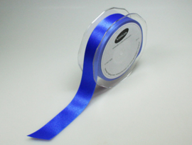 Satijn Lint Konings Blauw, 16 of 25  mm breed