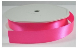 Satijn Lint neon roze, 25 mm breed