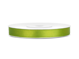 Satijn Lint - Appeltjes Groen - 6 mm - 25 meter
