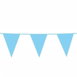 Vlaggenslinger blauw 10 meter