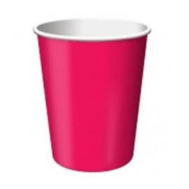 Bekers hot pink 14 stuks