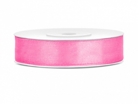 Satijn Lint - Pink - 12 mm - 25 meter