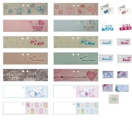 Geboortebedankjes papflesje met kaartje