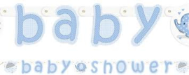 Babyshower Letterslinger olifant blauw
