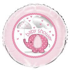 Babyshower Heliumballon 45,7 cm olifant roze