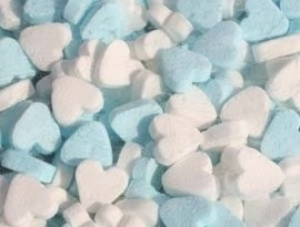 pepermunt hartjes blauw