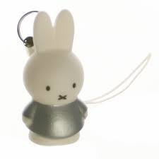 Mini sleutelhanger Nijntje 3,8 cm Zilver