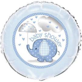 Babyshower Heliumballon 45,7 cm olifant blauw