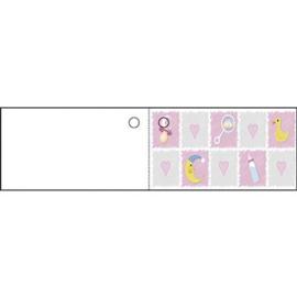 Kaartje blokjes roze