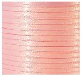 Satijn Lint 3 mm, licht roze