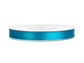Satijn Lint - Turquoise - 6 mm - 25 meter