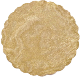 Tule rond geelgoud 22,5 cm