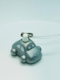 Mini sleutelhanger zilver car
