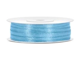 Satijn Lint 3 mm, Licht Blauw