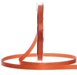 Satijn Lint Donker Oranje in verschillende breedtes